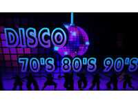 Mobile Disco DJ Classic Nights Disco 70's 80's 90's and more. Soul Disco Motown Rock & Roll