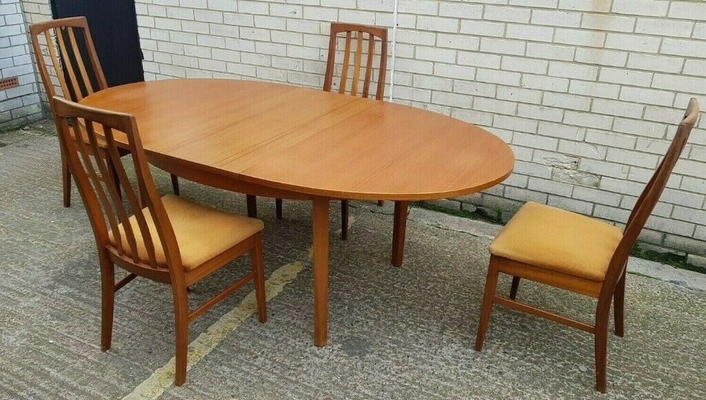 Vintage William Lawrence 1970s Period Extending Table 4