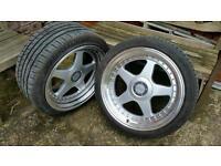 Dare f5 alloys 18 x 9.5 with tyres BMW Audi VW Merc