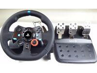 Logitech G29 Driving Force Racing Wheel and Pedals - PS3. PS4, PC
