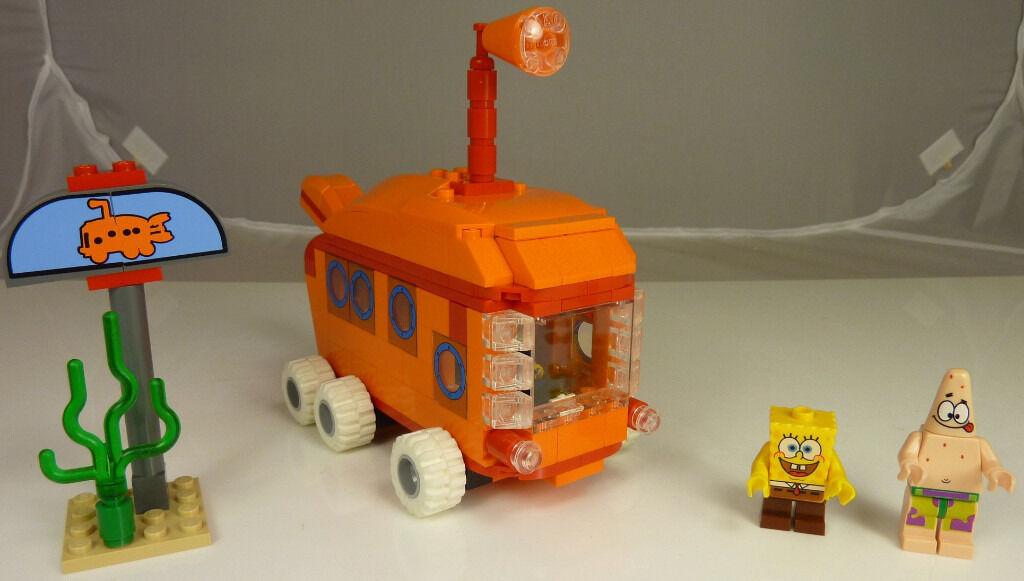 Spongebob Squarepants Lego Bikini Bottom Express Bus Excellent