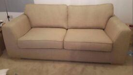 DFS Zapp 3 seater sofa in cream