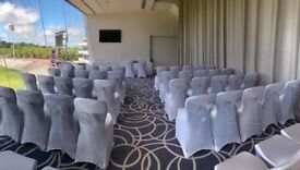 Chair covers and organza sashes