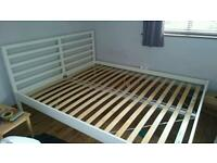 King size bed frame, needs to go asap