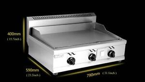 Stainless Steel Commercial Kitchen Countertop LP Gas Flat Griddle Grill 134118