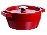 pyrex slow cook 4936877 Casserole Pan Round 3.6 L Cast Stainless-steel Red ** NEW AND UNUSED*