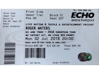 Roger Waters Ticket Liverpool Mon 2nd July