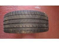 "One Michelin pilot Sport 3 225/40/18"" part worn tyre"