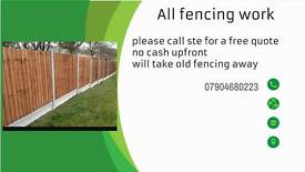 All fencing work