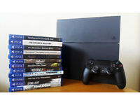 PS4 500MB + 12 Games