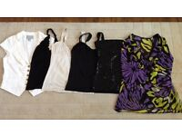 Ladies Size 10 bundle of tops, shorts & dress. 18 items. Great condition.