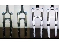 Fox factory float 32 fork white or black 120mm tapered 9mm drop out