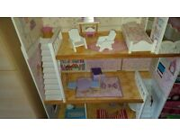 Wooden house for dolls
