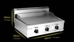 Open Box  Stainless Steel Commercial Kitchen Countertop LP GasFlat Griddle Grill 134118