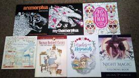 ADULT COLOURING BOOKS - Animorphia, Mythomorphia, Day Of The Dead, Pirates + Mermaids, Night Magic