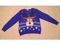 Men's George Large Reindeer Christmas Jumper.
