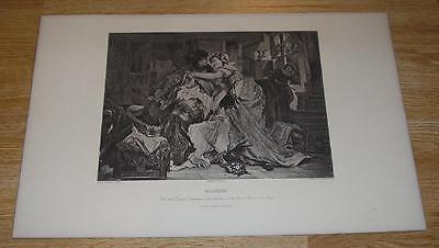 ANTIQUE SHAKESPEAREAN COSTUME PERIOD SHAKESPEARE PLAY FALSTAFF CUTE GIRLS  PRINT (Shakespearean Costumes)