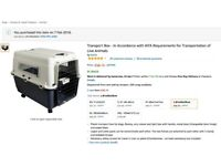 Large Transport Box - In Accordance with IATA Requirements for Transportation of Live Animals