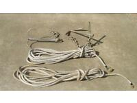 FISHING ANCHOR & GRAPPLING HOOK & TWO 36FT LENGHTS OF STRONG MOORING ROPE