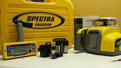 Trimble Spectra Precision Ll300n Hl450 Rechargable Batteries Tripod Rod