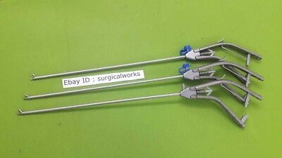 Needle Holder Curved Left And Right Jaw Gun Type 5mm Laparoscopic Instruments-3p