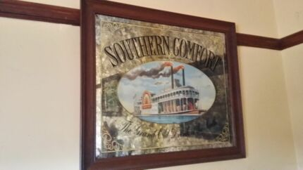 Large old southern comfort mirror Glenorchy Glenorchy Area Preview