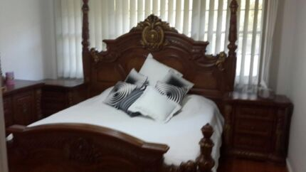 Solid Italian bedroom King size  Georges Hall Bankstown Area Preview