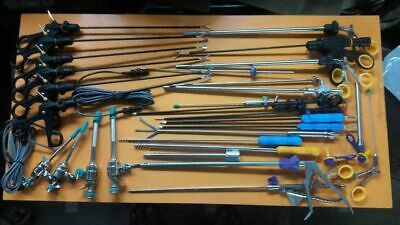 Laparoscopic Grasper Dissector Reusable Fan Retractor Instruments Set 34pc 5mm