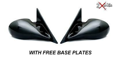 PEUGEOT 206 BLACK M3 MANUAL PAIR OF DOOR WING MIRRORS E MARKED & BASE PLATES
