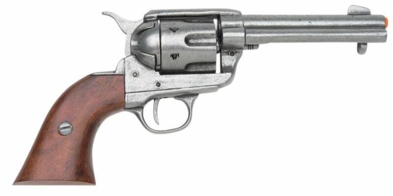 Denix  M1873 Colt 45 Peacemaker Fast Draw Replica - Antique Gray Finish