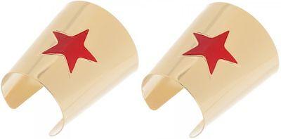 WONDER WOMAN CUFFS Cuff Bracelet Set COSTUME Cosplay JUSTICE LEAGUE - Wonder Woman Justice League Costume