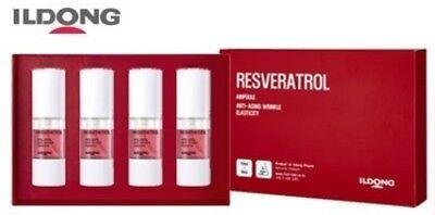 Ildong Resvertrol Ampoule 10ml 4ea Anti-aging Anti-wrinkle Elasticity K-Beauty