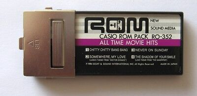 Casio ROM Pack All Time Movie Hits for Casio Casiotone ROM Pack Type Keyboards