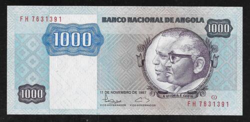 Angola Paper Money - 1000 Kwanza Note - 1987 - P121b - Uncirculated
