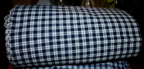 Antique German Linen Bale chequered blue/white, Peasant linen