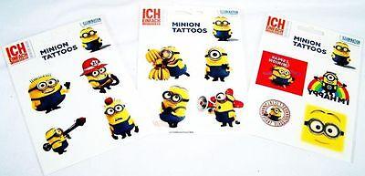 Minion Tattoo Tattoos 12 Stück Stewart,Jorge,Banana,Steve,Dave Sticker Aufkleber