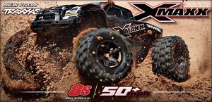 Traxxas Xmaxx 8S in all colours and RED snap on