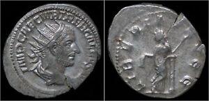 Trebonianus-Gallus-AR-antoninianus-Libertas-standing-left