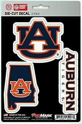 Auburn Tigers Promark Die Cut Decal Stickers 3 Pack
