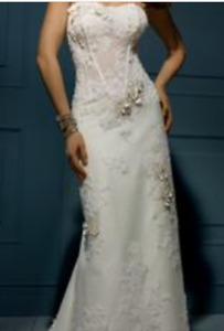 Size 0-Brand new wedding dress