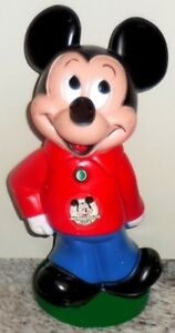 Vintage 1970s Mickey Mouse Club Coin Bank Witn Stopper - $30.00