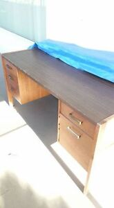 old style heavy wood desk