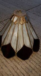 Vintage Stained Glass Lampshade!