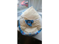 Baby Beanbag with straps to hold baby in place