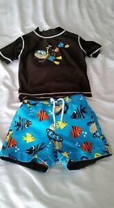 Carters 18-Month Size Swim Trunks & Rashguard Top - $8 for both