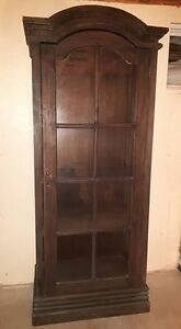 Beautiful wooden display cabinet! Wooden shelves