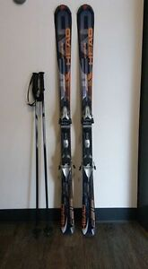 Skis 149cm + poles + boots + ski bag (2ND HAND)