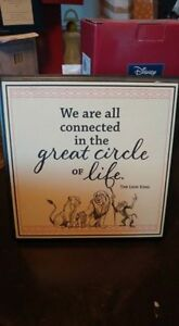 Disney Lion King Circle of Life Tabletop Plaque