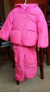 Pink baby gap snow suit