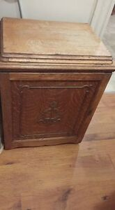 Antique treadle sewing machine cabinet
